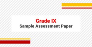 Sample Papers for Grade IX