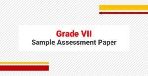 Sample Paper for Grade VII