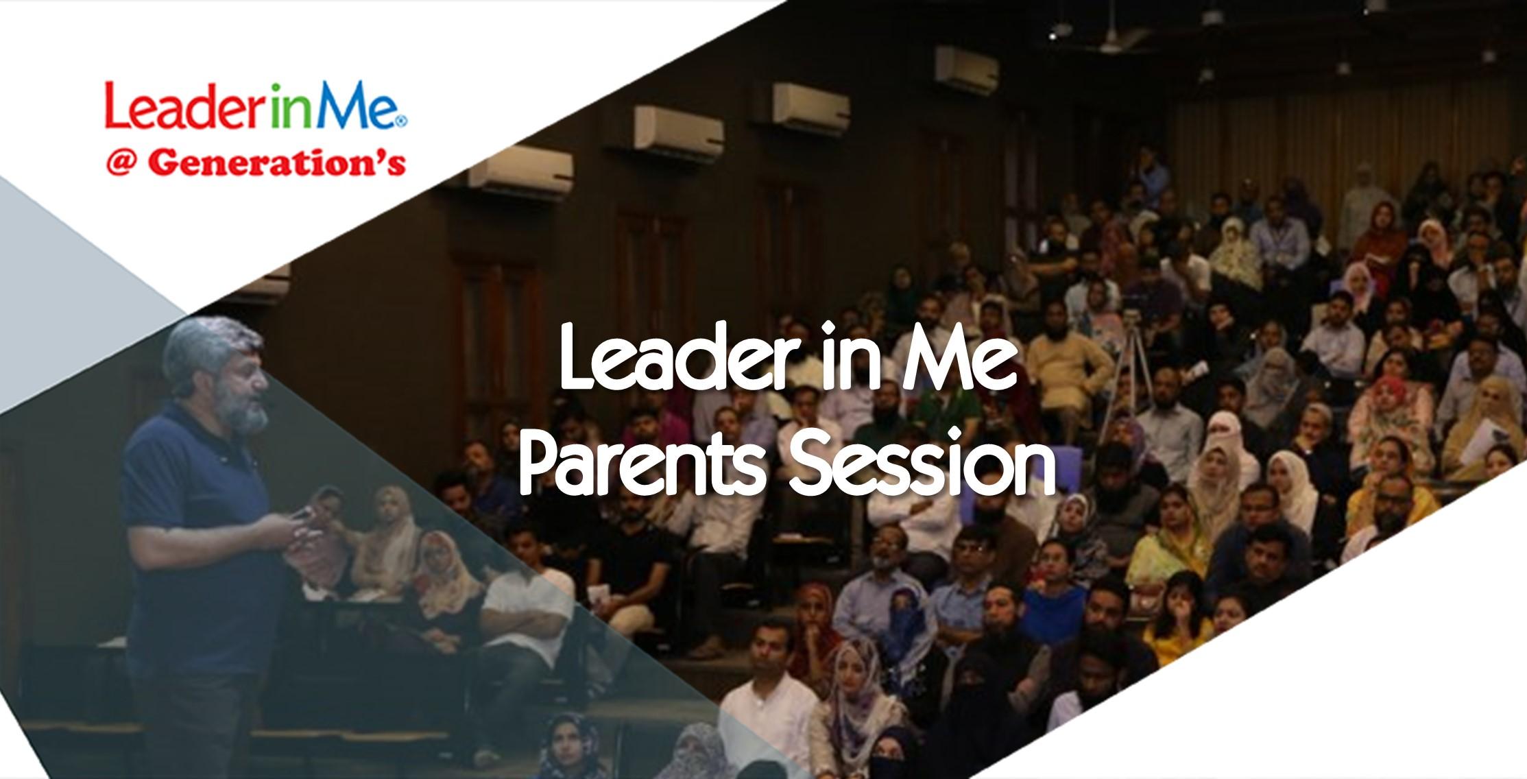 Leader in me Parents session