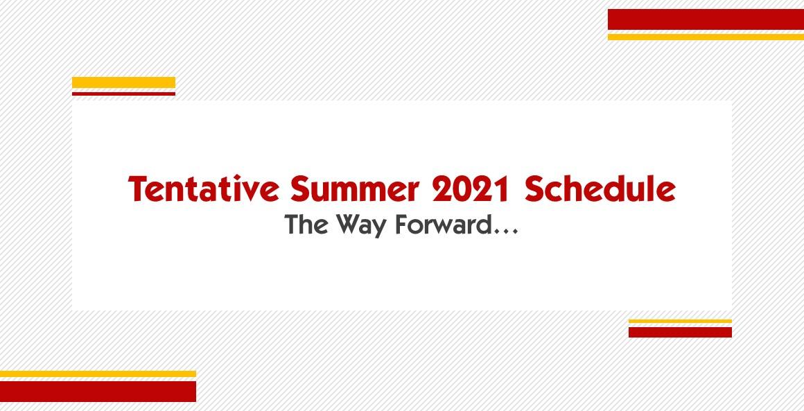 Generation's Summer Schedule 2021
