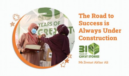 The Road to Success is Always Under Construction by Ms Zeenat Akbar Ali